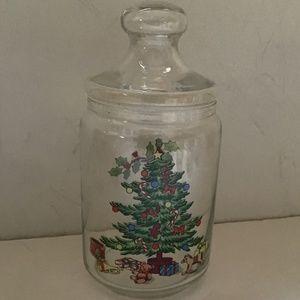 Christmas Tree Deco Lidded Jar